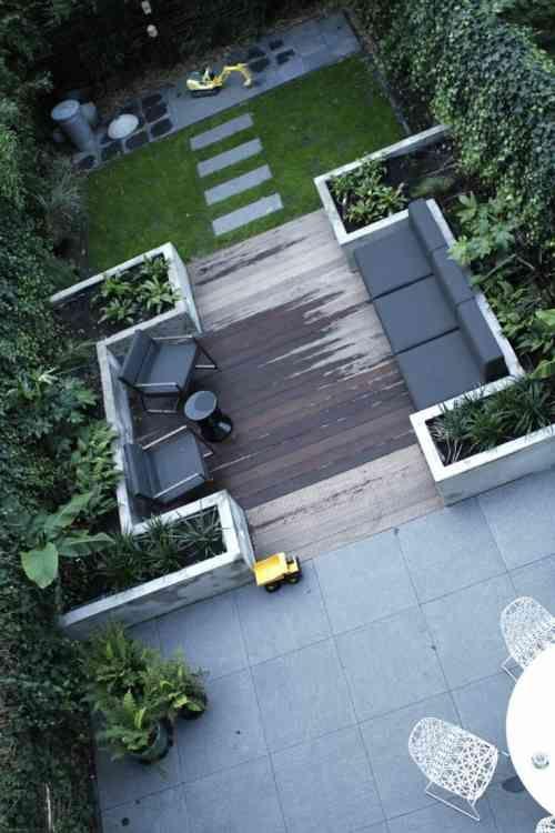 Les 25 meilleures id es de la cat gorie terrasse en bois for Jardin urbain moderne