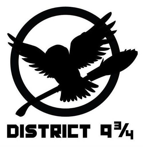 District 9¾ - Funny Hunger Games District logo.    Okay, so not made as a tattoo, buuuttt...I kinda want to use it as a one. <3