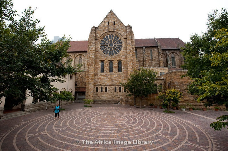 Siyahamba Labyrinth, St George's Cathedral, The Company's Garden, Cape Town, South Africa