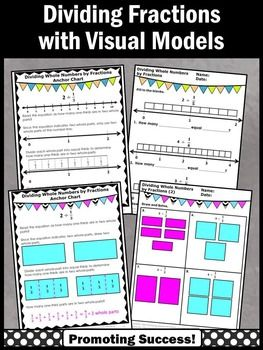 Best 25 dividing fractions ideas on pinterest dividing dividing fractions these no prep worksheets show dividing whole numbers by fractions on a number ccuart Choice Image