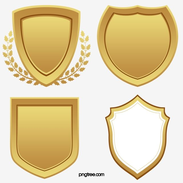 Vector Hand Painted Golden Shield Vector And Png Shield Vector Hand Painted Frames Banner Clip Art