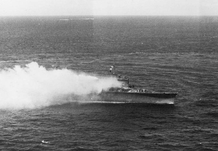 Japanese cruiser burning off Truk 1944 - 香取 (練習巡洋艦) - Wikipedia
