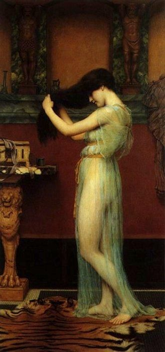 thetranscendentalmodernist:  The Toilette - John William Godward (1861 - 1922) - c. 1900