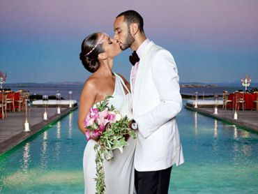 Alicia Keys wore a Vera Wang wedding gown to her destination wedding to Swizz…