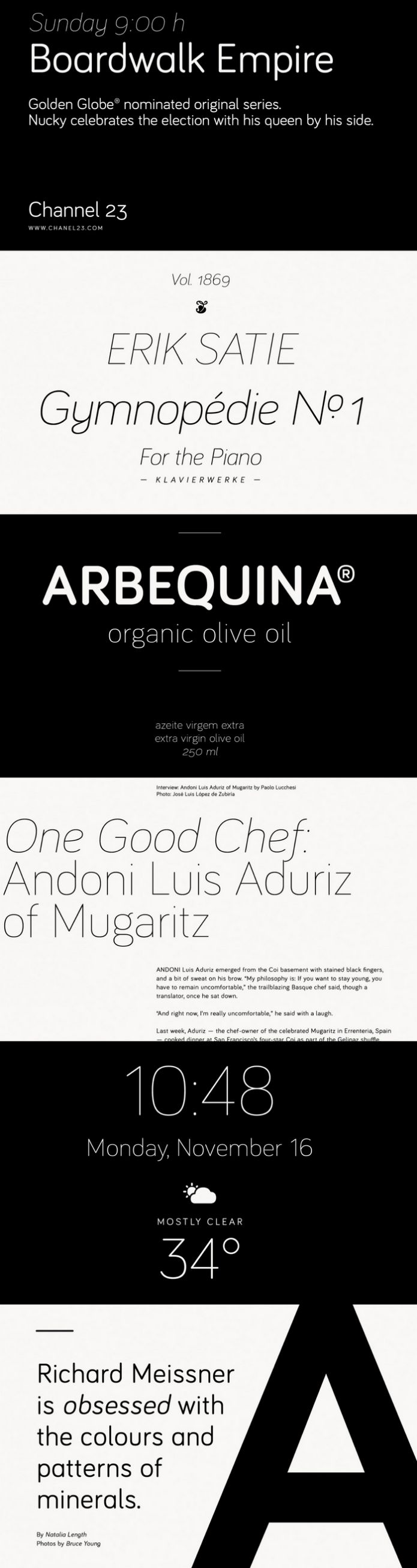 What do you think about Bariol Free Typefaces? This is a modern, new rounded, slightly condensed typeface designed by atipo ®. With its sober shapes and its simple construction, it's very readable even at small sizes. Check it out and add to your fonts collection right now just a click!