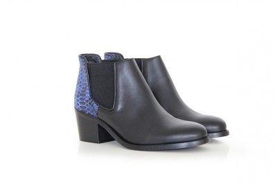 LAUREN - NOIR / PYTHON #derbies #boots #shoes #women #leather