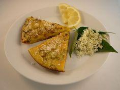 Vlierbloesem citroen omelet. Lekkerder dan cake! Het recept vind je hier: http://www.vlierbessen.nl/recepten/vlierbloesemomelet/