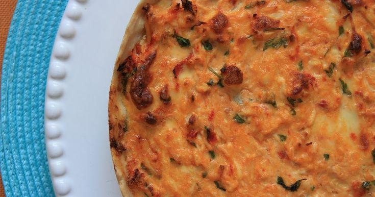 THERMOMIX: Quiche de frango e tomate seco