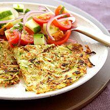 Röstis de courgette et salade de crudités