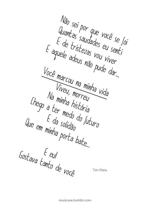 Gostava Tanto de Você - Tim Maia (Compositor: E. Trindade)