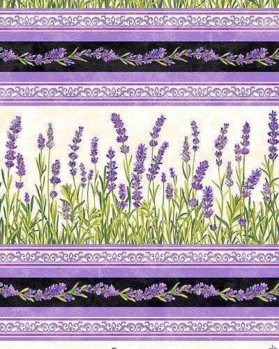 Lavender Market - Fragrant Stripes - Quilt Fabrics from www.eQuilter.com