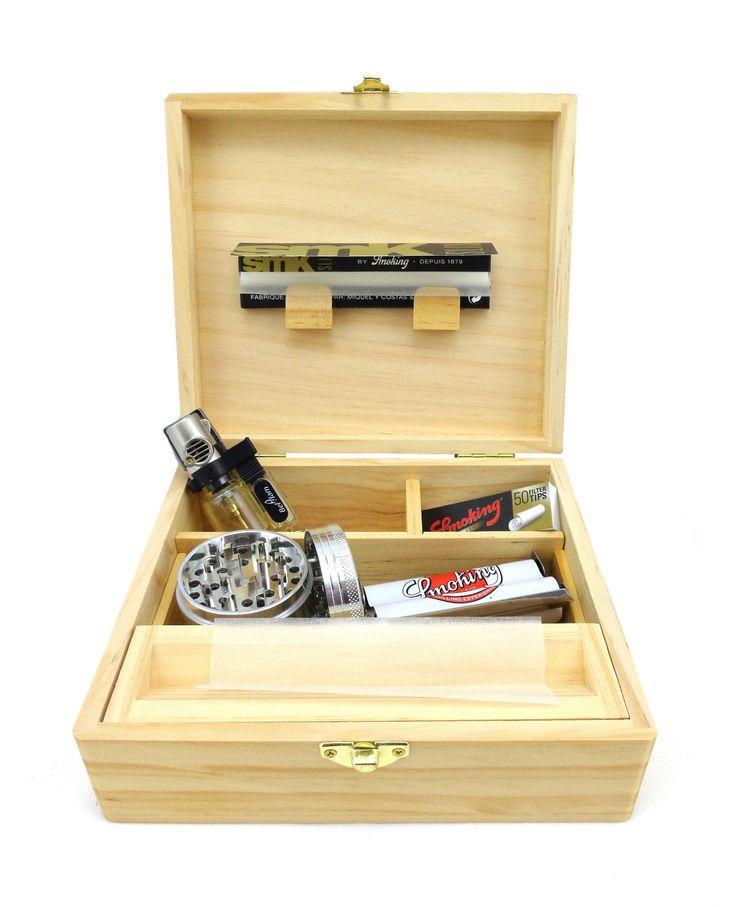 Boîte DE Rangement Bois Rolling Suprême PR Feuilles Slim Briquet Grinder Tips   eBay