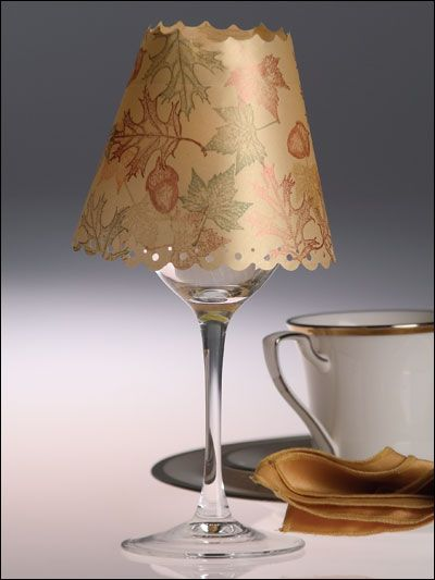 Wine Glass Shade | Wine glass shades | Pinterest | Crafts ...