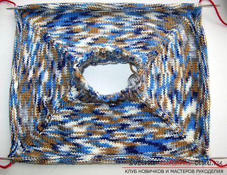 Бесшовный реглан-свитер спицами.Описание и фотографии вязания зимнего теплого свитера для ребенка. Фото №4