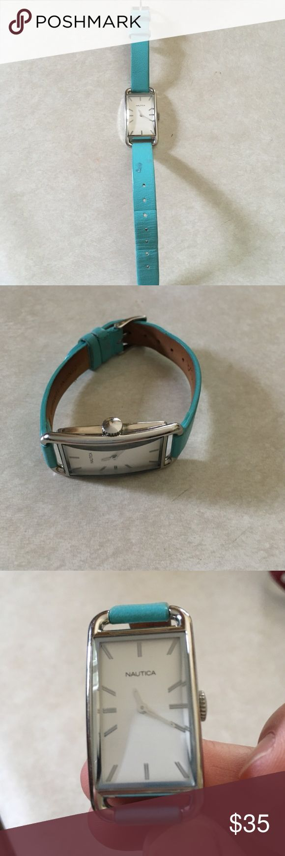 Women's watch Nautical women's watch. Leather band. Nautica Accessories Watches