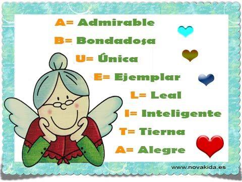 Postal, Día de la Abuela_01 Frases y felicitaciones para todas las Abuelas.