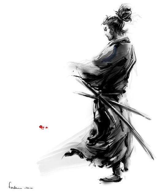 Miyamoto musashi ; (Note; The story of MIYAMOTO Musashi has been a subject of kabuki and joruri since the Edo period, and also made into numerous movies, TV and cartoons.)