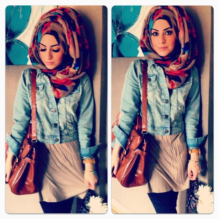 love the hijab style & bag!