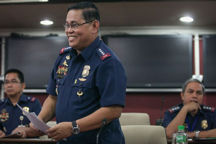 "Philippine National Police (PNP) Chief Alan Purisima speaks to members of the media during a briefing at the PNP headquarters in Camp Crame on Thursday. Purisima slammed the ""rabid"" attacks from the media on alleged corruption saying his conscience is clear."