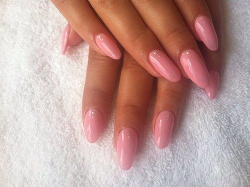 Soft Pink Almond Nails | N a i l s | Almond nails, Almond ...