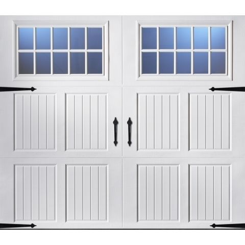 single garage doors with windows | ... ft Carriage House Insulated Single Garage Door With Windows 123469