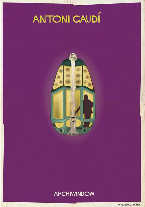 Archiwindow by Federico Babina Architect silhouettes pose inside iconic windows for Federico Babina's Archiwindow series