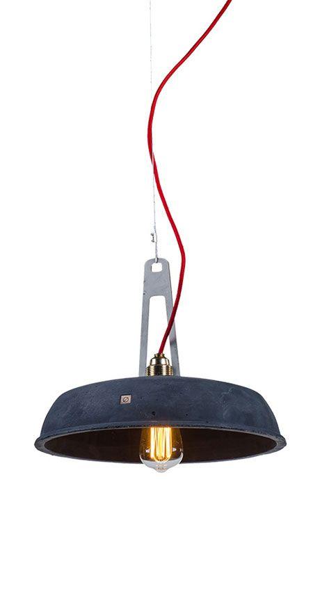 INDUSTRIOLA concrete pendant lamp by Marcin Boratyn  http://loftlight.pl/produkt/industriola/