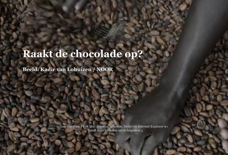 Raakt de chocolade op?