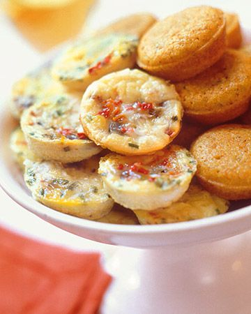 Hors d'oeuvres by the Dozen: Frittata Recipes, Minis Muffins, Cornbread Muffins, Muffins Tins, Minis Frittata, Martha Stewart, Favorite Recipes, This Exercise Takes Place Outside, Baby Shower