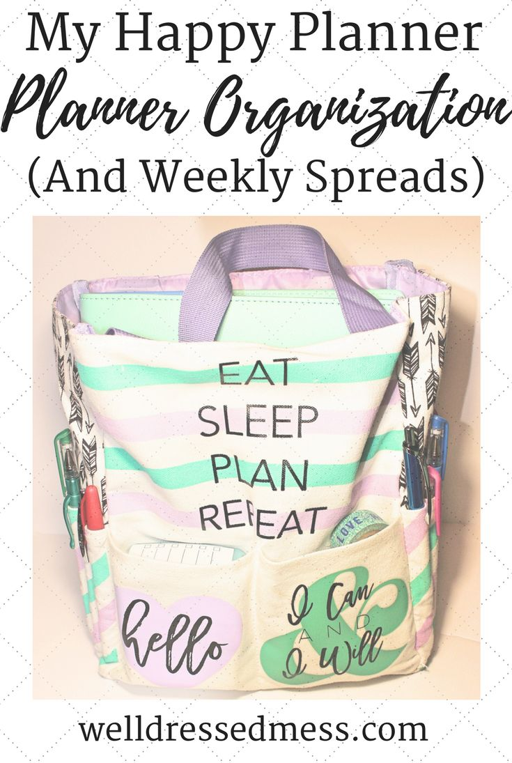Love the products mentioned in this blog post on the Happy Planner! Great tips on how to organize your planner accessories and weekly spread ideas. Planner's & DIY lover's dream!