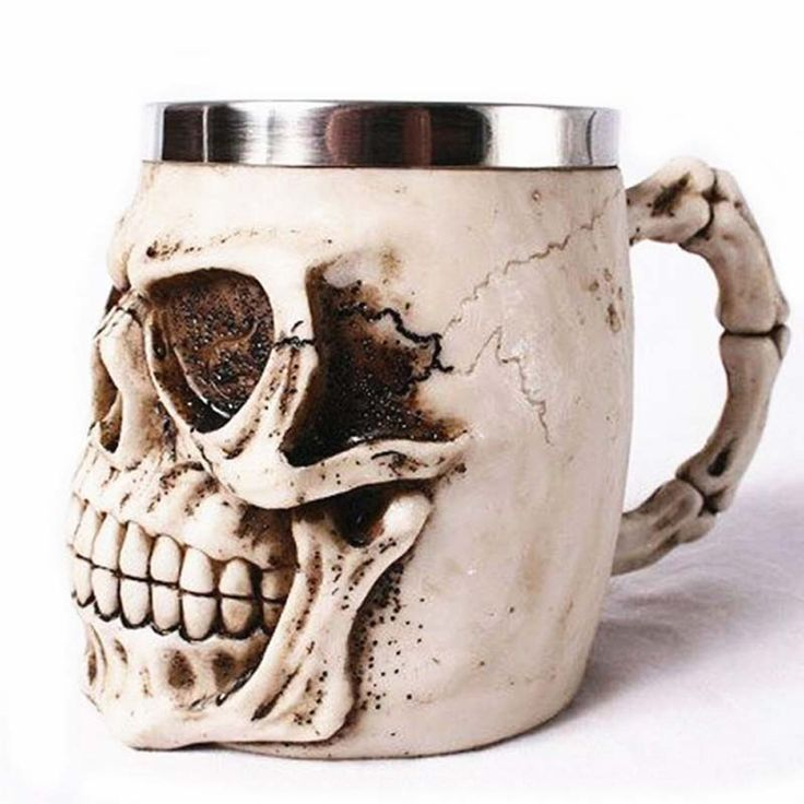 Cheap novelty yarn, Buy Quality cups school directly from China novelty cuffs Suppliers:          Hot Unique Resin Skull Coffee Mug Stainless Steel Liner Creepy 3D Skull Coffee Milk Mug Cup Tankard Novelty for