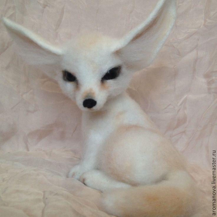 Купить Фенек - степная лиса (нашел дом) - лиса, лисенок, фенек, лисичка, войлочная игрушка