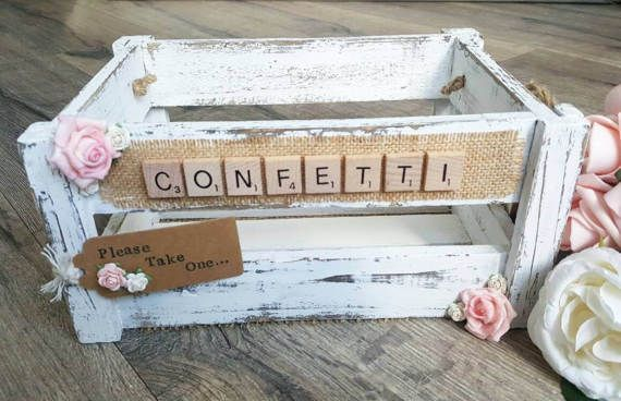 Check out this item in my Etsy shop https://www.etsy.com/uk/listing/516625265/confetti-crate-shabby-white-confetti