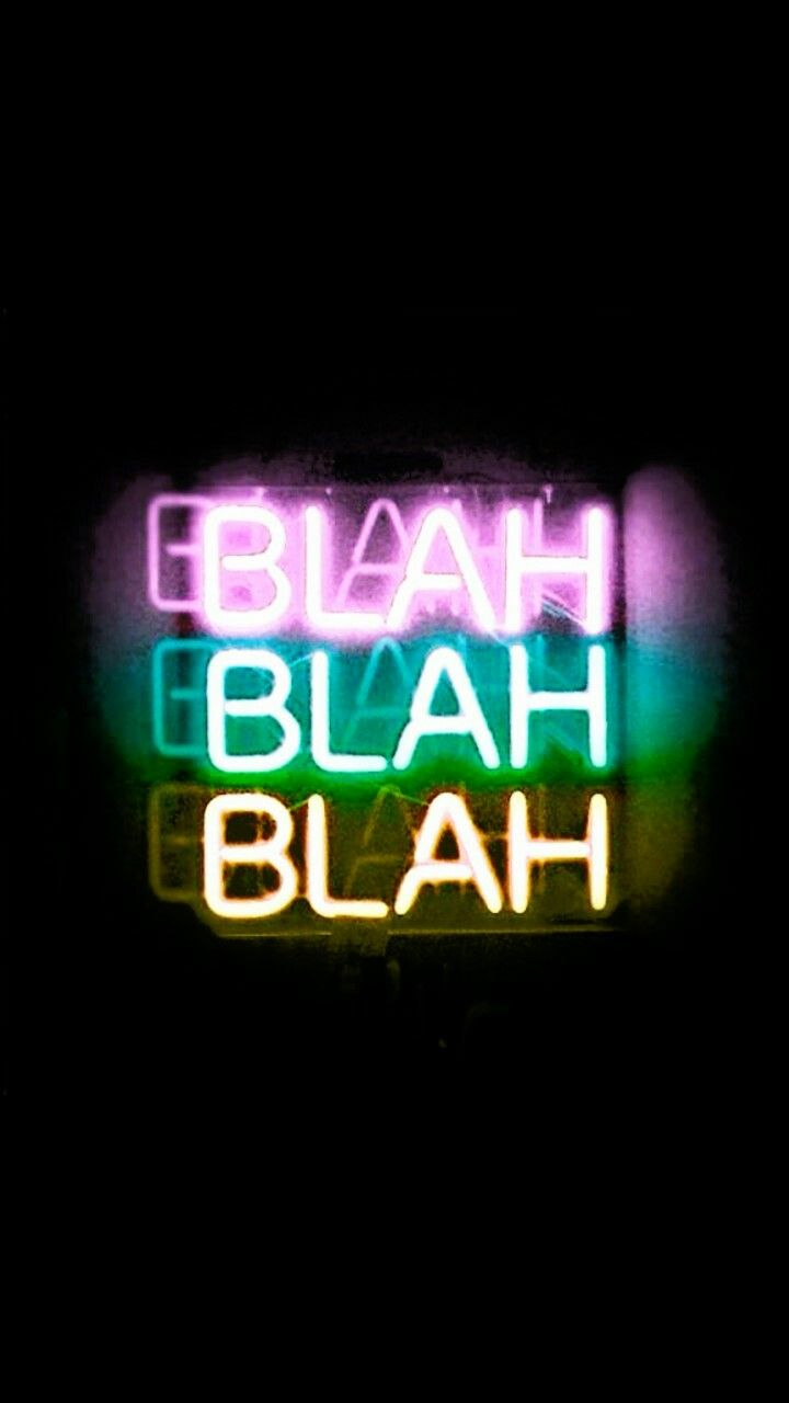 My Major Habit Neon Words Neon Wallpaper Vintage Quotes