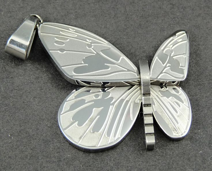 Přívěšek chirurgická nerez ocel motýl 5793-5 | Bižuterie Kozák