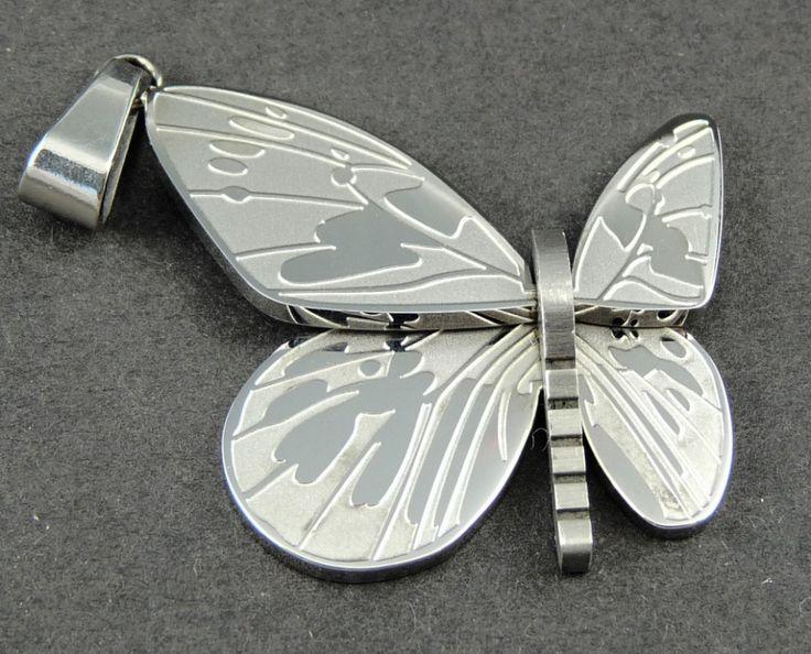 Přívěšek chirurgická nerez ocel motýl 5793-5   Bižuterie Kozák