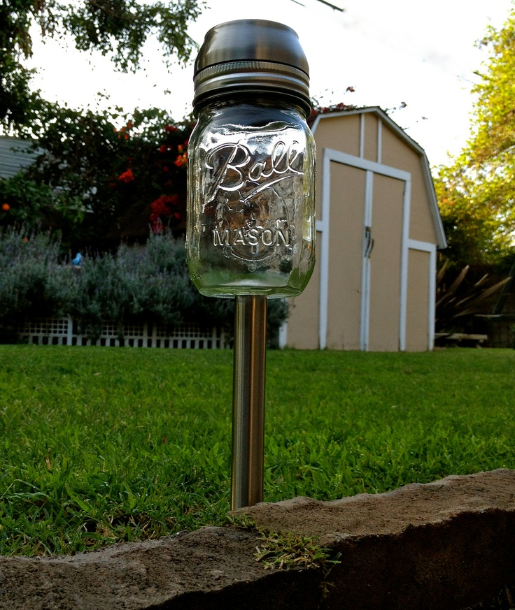 mason jar garden garden stakes and solar lights on pinterest ball mason jar solar lights