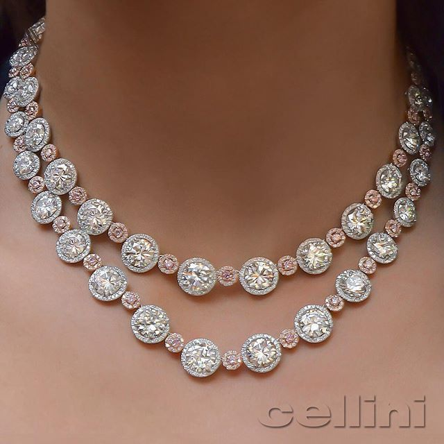 Fit For Your Queen Mothersday Find Your Perfect Gift At Cellini Jewelers Nyc White Diamond Necklace Wedding Jewellery Necklace Beautiful Diamond Necklace