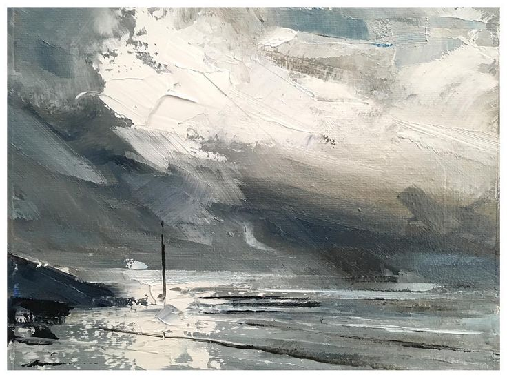 Wes Martin - Artist. 'Marker' Oil on canvas. 20x25cm. 125. For sale. There was some splendid cloud n light down on Morecambe prom this morning. #relaxing #landscapepainting #contemporarypainting #uplate #morecambe #seascape #inspirations #art #artexhibition #nature #callforart #artforsale #contemporaryart #instaartwork #artinfo #artwork #follow #impressionism #vibrant #artist #instaartist #instaart #artforsale http://ift.tt/2iigjrK December 04 2017 at 03:24PM