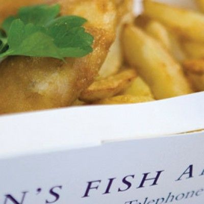 Crowds flock to Stein's fish and chip restaurants in Padstow and Falmouth to try Rick Stein's fish and chips recipe