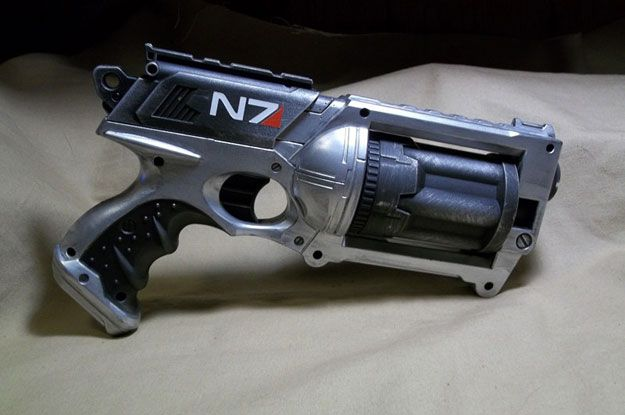 Mass Effect Inspired Nerf Gun Mods
