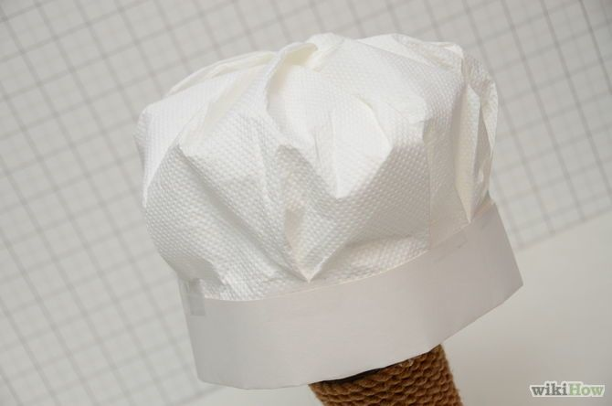 Make a chef 39 s hat paper hats chef hats and diy for kids for Paper chef hat craft