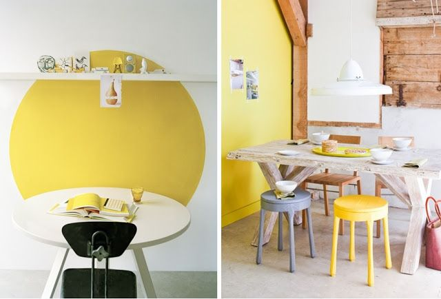 1000 images about sunny deco on pinterest blog for Salle a manger jaune