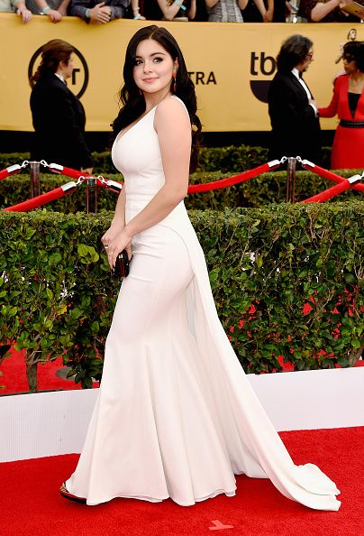 Ariel-Winter-ZAC-Zac-Posen-white-gown-2015-SAG-Awards