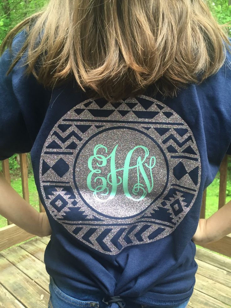 A personal favorite from my Etsy shop https://www.etsy.com/listing/288727003/monogram-glitter-initial-aztec-design