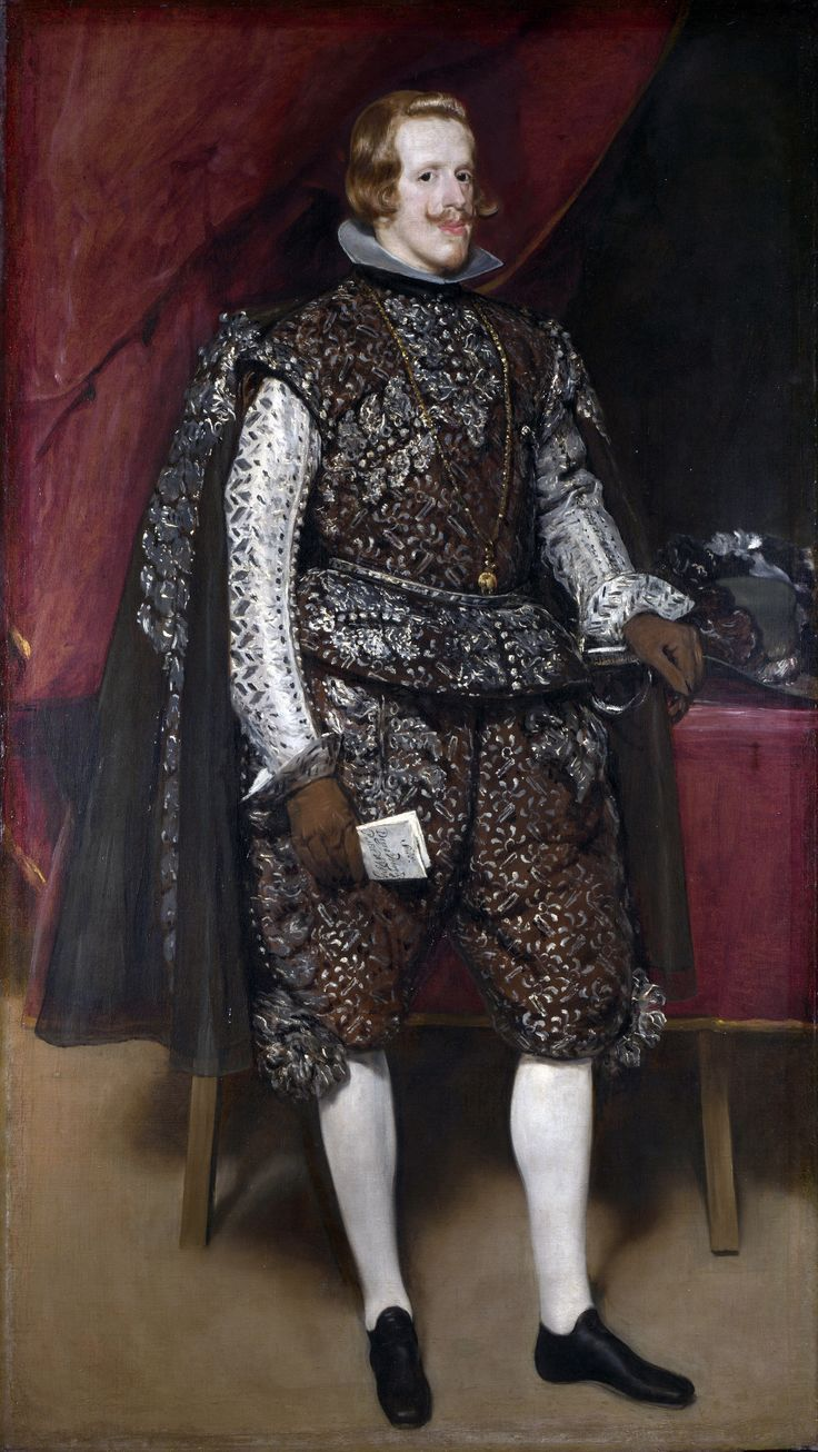 diego rodríguez de silva y velázquez(1599-1660), philip iv of spain in brown and silver, 1631-32. oil on canvas, 131 x 231 cm. museo del prado, madrid, spain