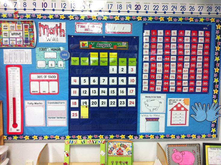 Calendar Math Kindergarten : Math wall minie pinterest and