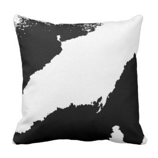 Black and White Abstract Paint Horse MoJo Pillows