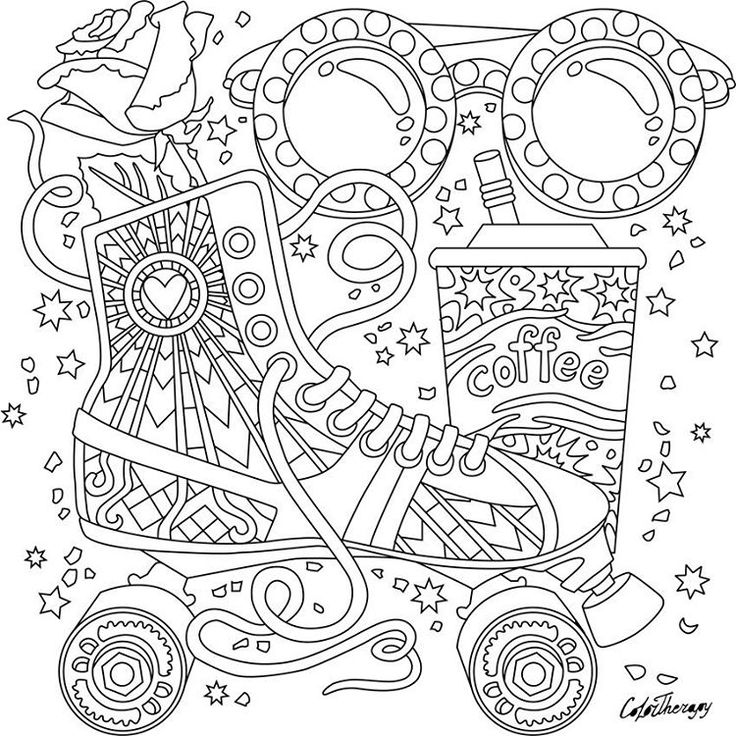 Coloring pages for adults app ~ 162 best images about Shoes Coloring Pages for Adults on ...