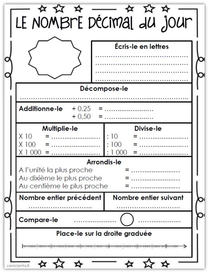 test de math sur arrondissement 4e annee pdf